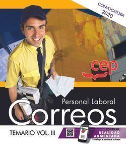 PERSONAL LABORAL 2020. CORREOS. TEMARIO VOL.III CEP