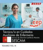 2020 TECNICO /A CUIDADOS AUXILIAR ENFERMERIA SESCAM. TEMARIO 2