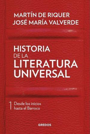 HISTORIA DE LA LITERATURA UNIVERSAL, VOL.1