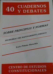 SOBRE PRINCIPIOS Y NORMAS. CUADERNO Y DEBATES