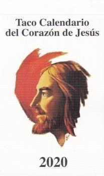 TACO CALENDARIO CORAZON DE JESUS 2020