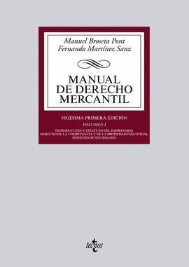 MANUAL DE DERECHO MERCANTIL VOL. I 2014 TECNOS