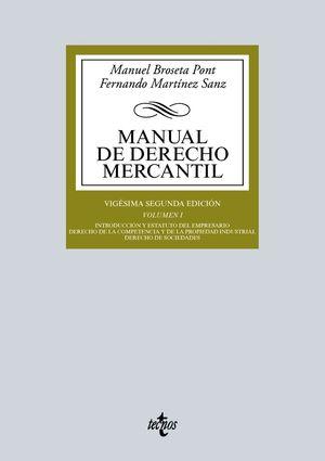 MANUAL DE DERECHO MERCANTIL VOL I