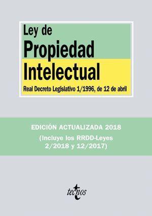 LEY DE PROPIEDAD INTELECTUAL 2018 TECNOS