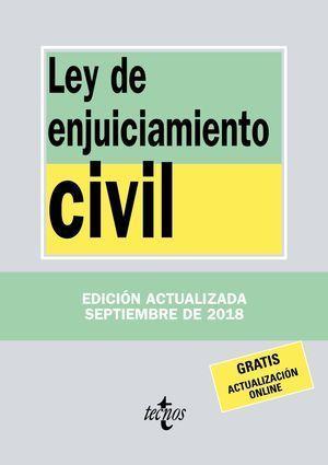 LEY DE ENJUICIAMIENTO CIVIL 2018 TECNOS