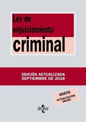LEY DE ENJUICIAMIENTO CRIMINAL 2018 TECNOS