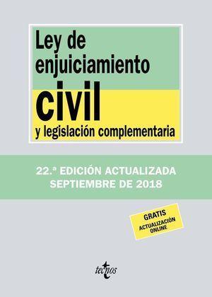 LEY DE ENJUICIAMIENTO CIVIL Y LEGISLACIÓN COMPLEMENTARIA 2018 TECNOS