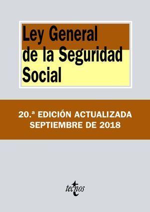 LEY GENERAL DE LA SEGURIDAD SOCIAL 2018 TECNOS