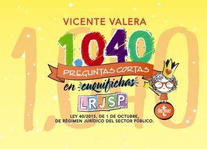1040 PREGUNTAS CORTAS EN <<CUQUIFICHAS>> LRJSP