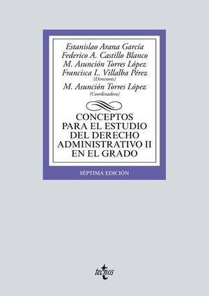 CONCEPTOS PARA EL ESTUDIO DEL DERECHO ADMINISTRATIVO II EN EL GRADO 2019 TECNOS