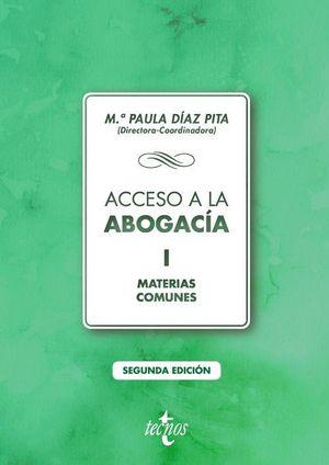 ACCESO A LA ABOGACÍA I. MATERIAS COMUNES