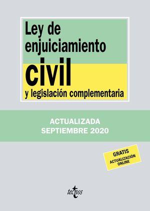 LEY DE ENJUICIAMIENTO CIVIL Y LEGISLACIÓN COMPLEMENTARIA 2020