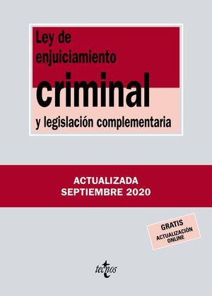 LEY DE ENJUICIAMIENTO CRIMINAL Y LEGISLACIÓN COMPLEMENTARIA 2020