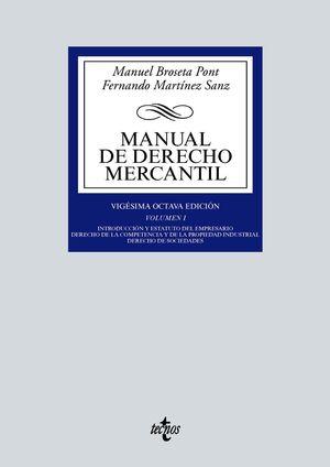 MANUAL DE DERECHO MERCANTIL I 28 ED.