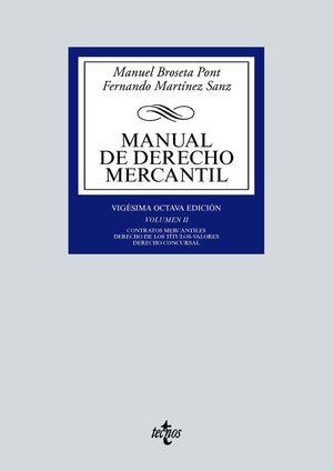 MANUAL DE DERECHO MERCANTIL II 28 ED.