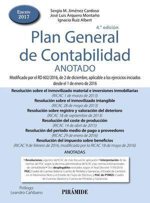 PLAN GENERAL DE CONTABILIDAD ANOTADO 2017