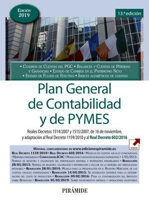 PLAN GENERAL DE CONTABILIDAD Y DE PYMES 2019 PIRAMIDE
