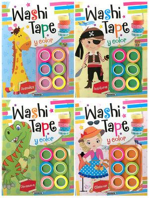 WASHI TAPE Y COLOR  (4 TÍTULOS)