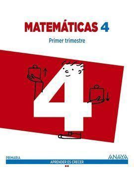 4EP MATEMÁTICAS 4 2015 ANAYA APRENDER ES CRECER