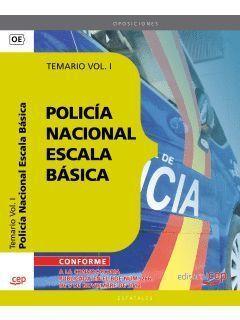 POLICIA NACIONAL ESCALA BASICA. TEMARIO I 2013 CEP