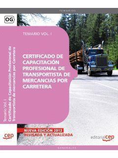 CERTIFICADO DE CAPACITACIÓN PROFESIONAL DE TRANSPORTISTA DE MERCANCIAS POR CARRE