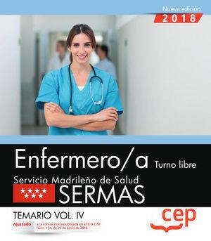 ENFERMERO SERMAS TURNO LIBRE TEMARIO IV 2018 CEP