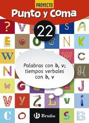 6EP CUADERNO PUNTO Y COMA LENGUA 22 PALABRAS CON B, V;  TIEMPOS VERBALES CON B, V