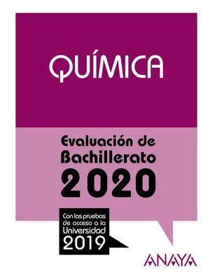 QUÍMICA. EVALUACION DE BACHILLERATO 2020