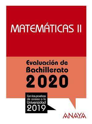 MATEMÁTICAS II. EVALUACION BACHILLERATO 2020