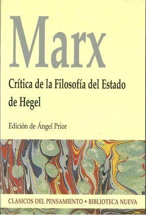 CRITICA DE LA FILOSOFIA DEL ESTADO DE HEGEL