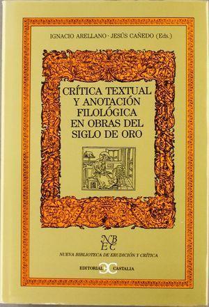 CRITICA TEXTUAL Y ANOTAC.FILOL