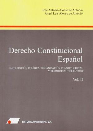 DERECHO CONSTITUCIONAL ESPAÑOL (II)