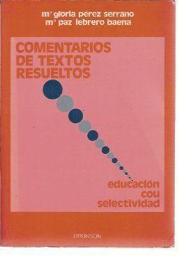 COMENTARIOS DE TEXTOS RESUELTOS