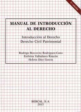 MANUAL DE INTRODUCCIÓN AL DERECHO 2015