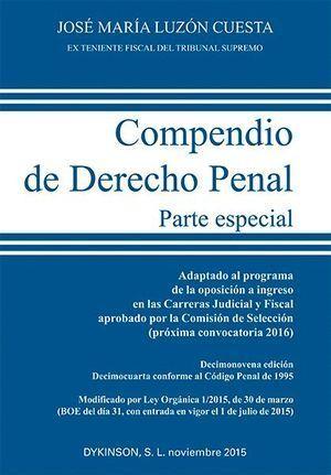 COMPENDIO DE DERECHO PENAL. PARTE ESPECIAL