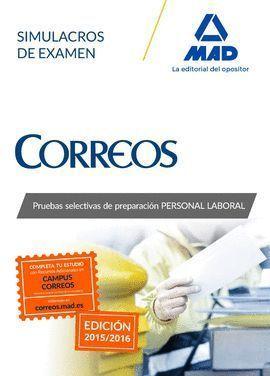 PERSONAL LABORAL CORREOS Y TELEGRAFOS SIMULACROS DE EXAMEN . 2015
