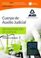 CUERPO AUXILIO JUDICIAL ADMON JUSTICIA TEMARIO I MAD 2015
