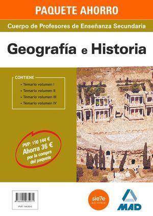 PACK AHORRO GEOGRAFÍA E HISTORIA SECUNDARIA JCCM MAD 2015