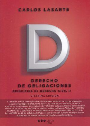 PRINCIPIOS DE DERECHO CIVIL. TOMO II (20ªED.). DERECHO DE OBLIGACIONES
