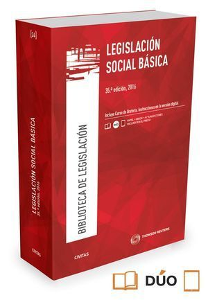 LEGISLACIÓN SOCIAL BÁSICA (PAPEL+E-BOOK) 35ª ED. 2016