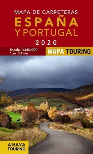 MAPA DE CARRETERAS DE ESPAÑA Y PORTUGAL 2020