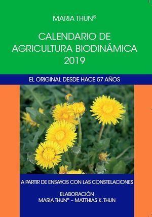 CALENDARIO DE AGRICULTURA BIODINAMICA 2019