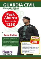 GUARDIA CIVIL 2019. ESCALA DE CABOS Y GUARDIAS. PACK AHORRO