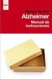 ALZHEIMER. MANUAL DE INSTRUCCIONES.