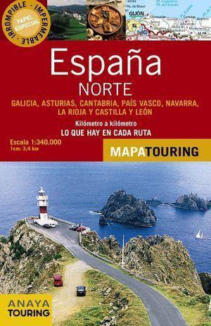MAPA DE CARRETERAS 1:340.000 - NORTE DE ESPAÑA (DESPLEGABLE)