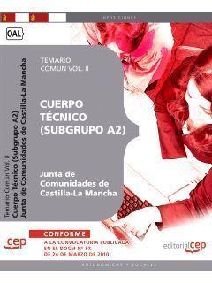 CUERPO TECNICO SUBGRUPO A2 TEMARIO COMUN 2 CEP 2010  JCCM