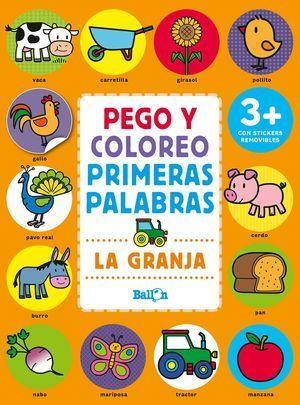 LA GRANJA - PEGO Y COLOREO PRIMERAS PALABRAS