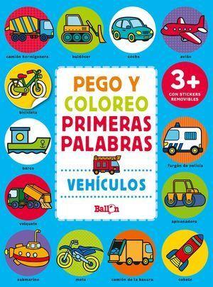 VEHÍCULOS - PEGO Y COLOREO PRIMERAS PALABRAS